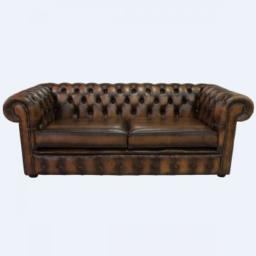 Cayuga Genuine Leather Chesterfield Sofa