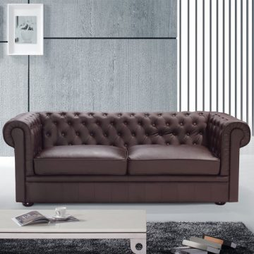 Clackline Leather Chesterfield Sofa