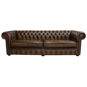 Jillian Genuine Leather Chesterfield Sofa