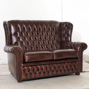 Potter Leather 2 Seater Sofa