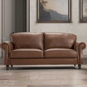 Watford 3 Seater Leather Sofa