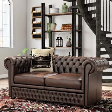 Gaillarde Genuine Leather Loveseat